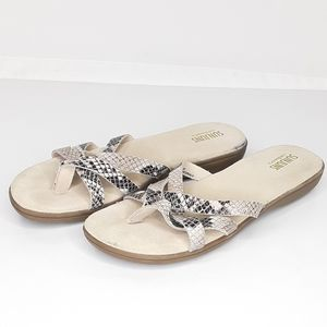 SUNJUNS Snakeskin Suede Sandals G.H. BASS &Co shoe